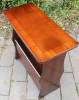 Small Mahogany Coffee Table Magazine Stand